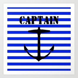 Captain and anchor logo Art Print