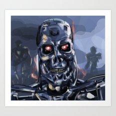 Speed Portraits: Terminator T-800 Art Print