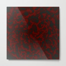 Spotted red blots on a dark military. Metal Print