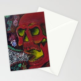 THE SKULL, Halloween Art Stationery Cards