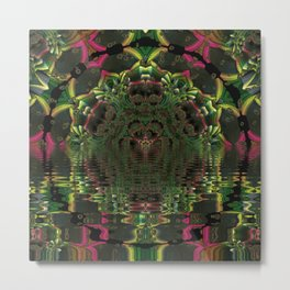 Psychedelic Water Temple Entrance Metal Print