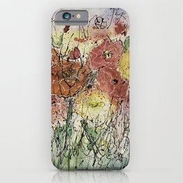 Red and Yellow Poppies by Olena Art iPhone Case