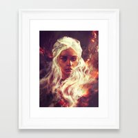 dragon ball z Framed Art Prints featuring Fireheart by Alice X. Zhang