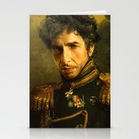 replaceface Stationery Cards featuring Bob Dylan - replaceface by replaceface