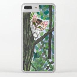 Peekaboo Clear iPhone Case