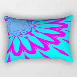 The Modern Flower Turquoise & Fushia Rectangular Pillow