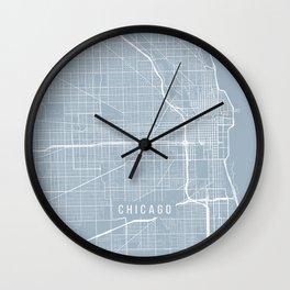 Chicago Map, USA - Slate Wall Clock