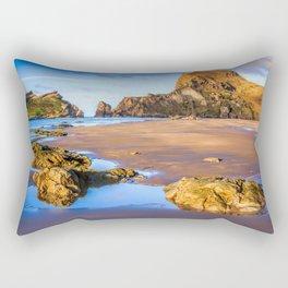 Sea, rocks and hills landscape Rectangular Pillow