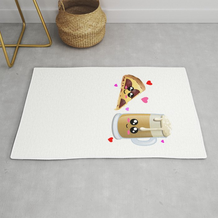 We Make A Great Combo Cute Pizza And Beer Pun Rug By Dogboo
