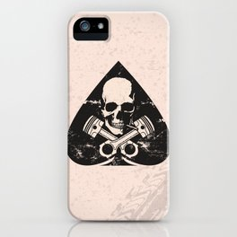 Grunge ace of spades iPhone Case