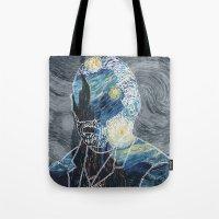 van gogh Tote Bags featuring Van Gogh by NotNorrah