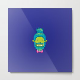 Hipster Zombie X Metal Print