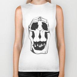 Skull by Salvador Dali Biker Tank