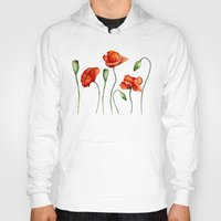 poppies Hoodies featuring Poppies by Julia Badeeva