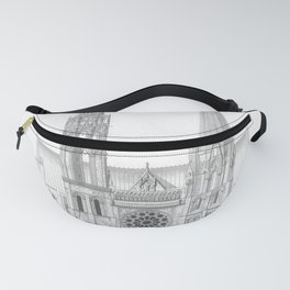 Cathedrale De Chartres Chartres Cathedral Fanny Pack