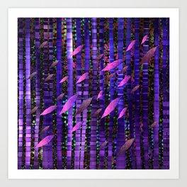 Jungle Breeze, Moonlight Art Print