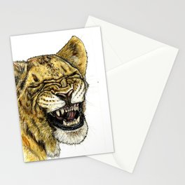 LAUGHING LION Stationery Cards