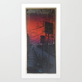 Suburban Sublime Art Print