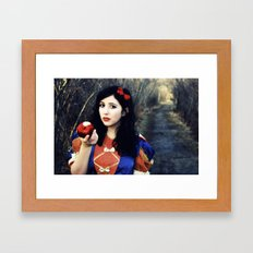 Snow White and Her Apple Framed Art Print