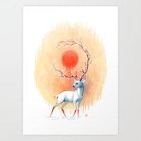 spirit Art Prints featuring Spring Spirit by Freeminds