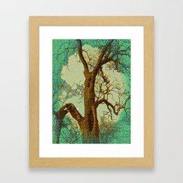 Spirit of the Wind; Green. Framed Art Print
