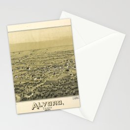 Aerial View of Alvord, Texas (1890) Stationery Cards