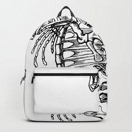 Baby Turtle Skeleton Anatomy Detailed Illustration Backpack