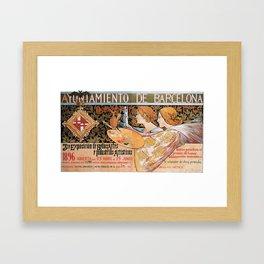 Old Sign / Barcelona  - Bellas Artes Framed Art Print