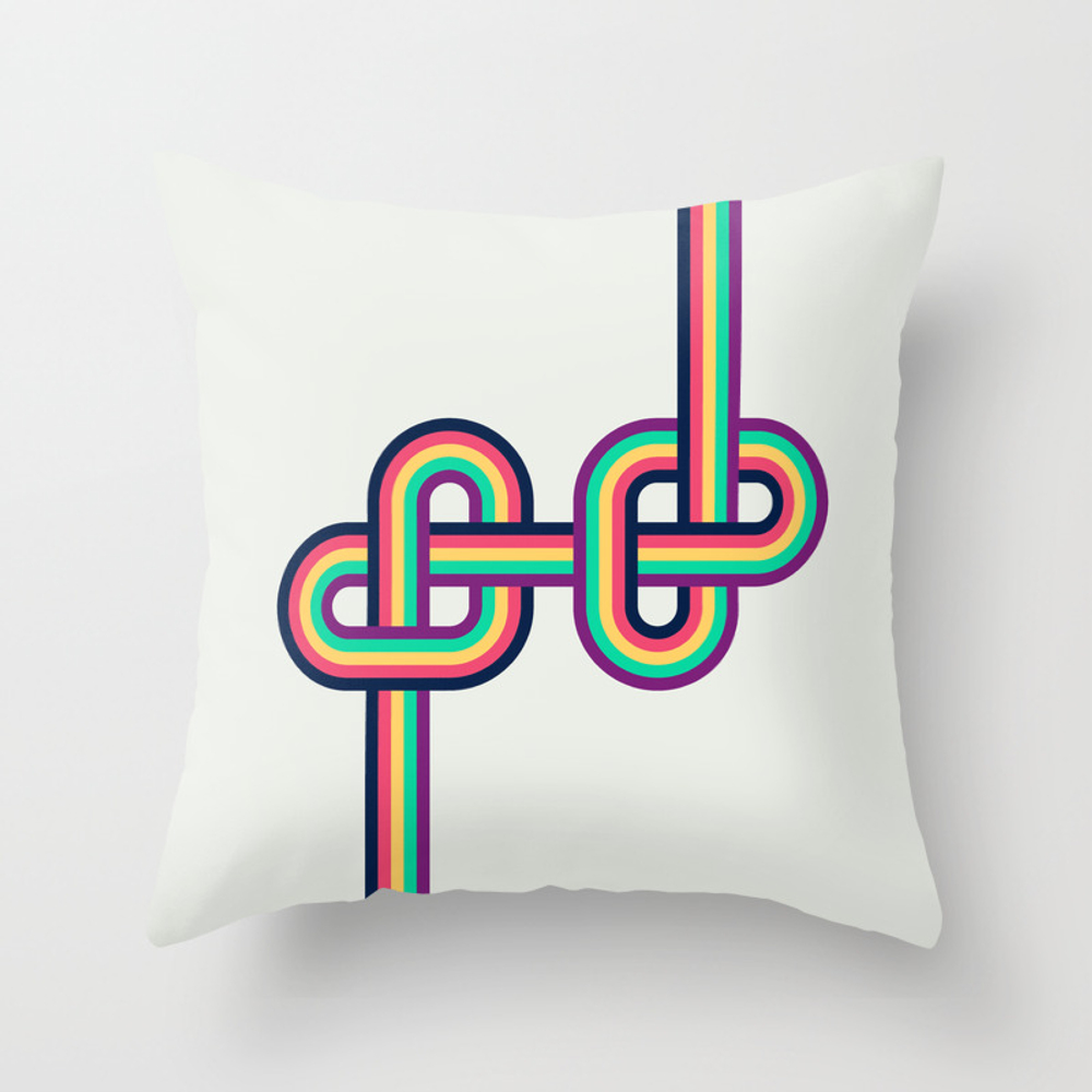 Twists And Knots #2 Throw Pillow by Cspcsp PLW4006192