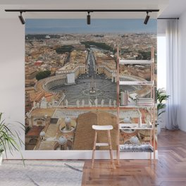 View of Rome from St. Peter's Lanterna Wall Mural