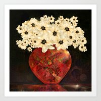 The Red Vase Art Print