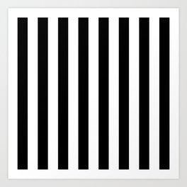 Parisian Black & White Stripes (vertical) Art Print