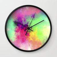 rush Wall Clocks featuring 80's Rush by Caleb Troy