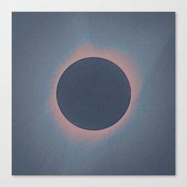 Solar eclipse, as seen above Madras, Oregon, U.S. by NASA 4 Canvas Print