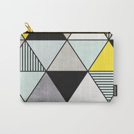 Colorful Concrete Triangles 2 - Yellow, Blue, Grey Carry-All Pouch
