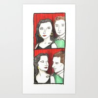 50s Art Prints featuring 50s Photobooth by Feronia Parker Thomas