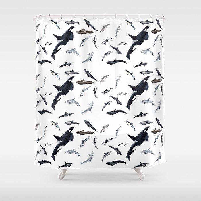 Dolphins all around Shower Curtain by chloeyzoard | Society6