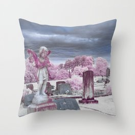 Stormy Cemetery Throw Pillow