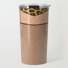 Fishnet Stockings and Leopard Skin Knickers Travel Mug