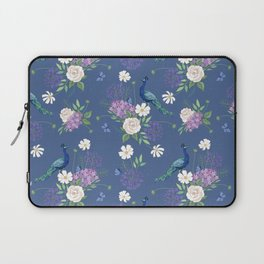 Peacocks Roses and Agapanthus Laptop Sleeve