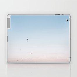"Coastal beach photography ""Pastel colored sky""    Printable photo art print   Seagulls Laptop & iPad Skin"