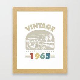 Birthday Gift Vintage 1965 Classic Framed Art Print