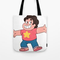 steven universe Tote Bags featuring Steven Universe by EsthersHouse