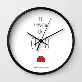 You Dont Give a Shit Wall Clock