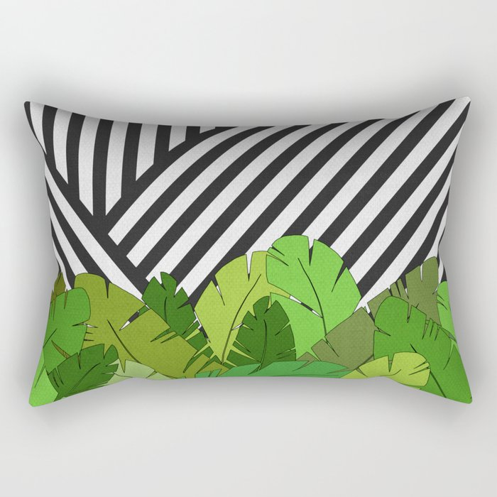 Green Direction Rectangular Pillow