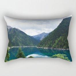 长海 // Long Lake, Jiuzhaigou Rectangular Pillow