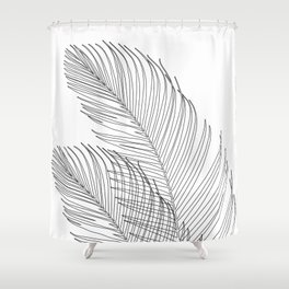 Palm Leaves Finesse Line Art #1 #minimal #decor #art #society6 Shower Curtain