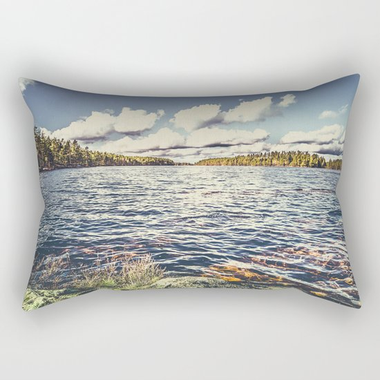 End of the road Rectangular Pillow