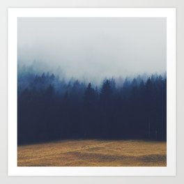 Misty Forest  2 Art Print