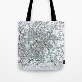 Greensboro, NC, USA, White, City, Map Tote Bag